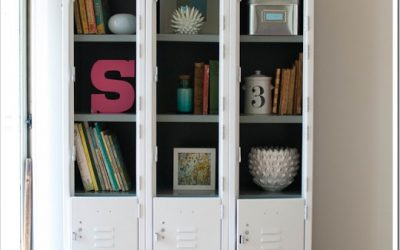Vintage Lockers Give Structural Charm to Living Area