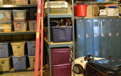 Shelving, lockers maximize garage storage organization