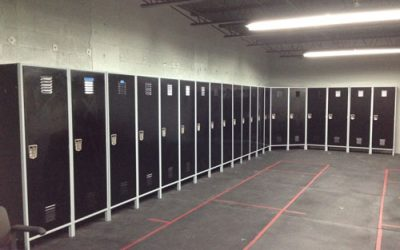 Fencing Center Renovates with Sleek Locker Walls