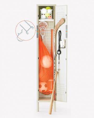 pegboard can keep sports clutter organized lockers unlimited rh lockers unlimited com